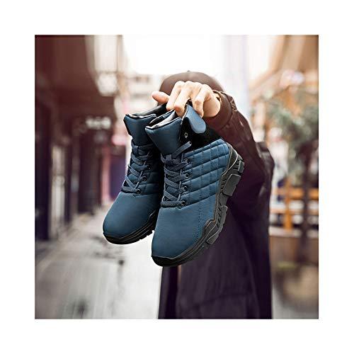HaoLin Ejército Fan Calzado Táctico Montañismo Zapatillas Calzado Botines Invierno,Blue-41
