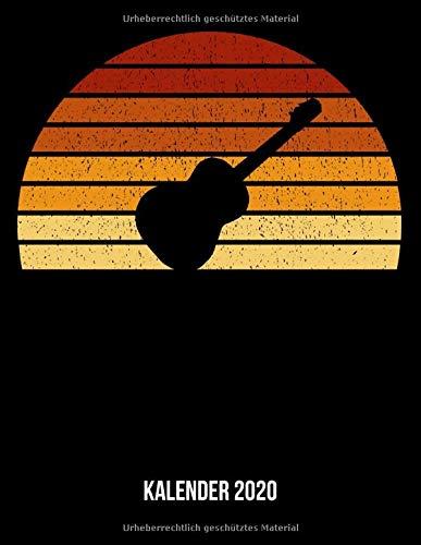 Kalender 2020: Terminplaner A4 - Vintage Sonne E-Gitarren Wochenkalender & Monatsplaner 2020 - Geschenk für Gitarristen