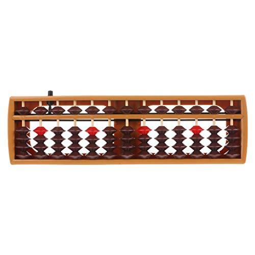 Fliyeong Tragbarer japanischer 13-stelliger Spalten-Abakus - Arithmetisches Soroban-Rechenschul-Mathematik-Lernwerkzeug Hohe Qualität