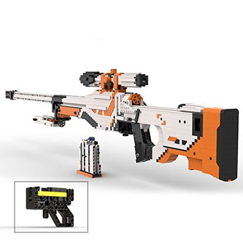 VIPO Technik Bausteine Schießwaffe Modell, 1750+Teile Waffe-Gewehr Bauset Kompatibel mit Lego Technic