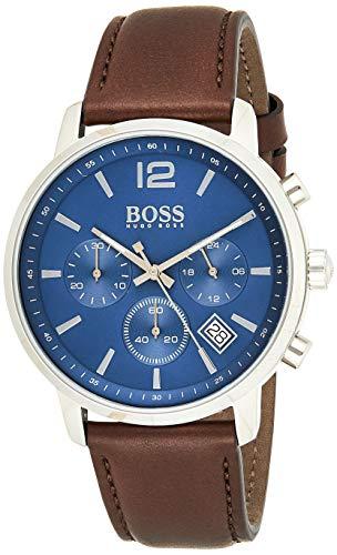 Hugo BOSS Reloj Cronógrafo para Hombre de Cuarzo con Correa en Cuero 1513606