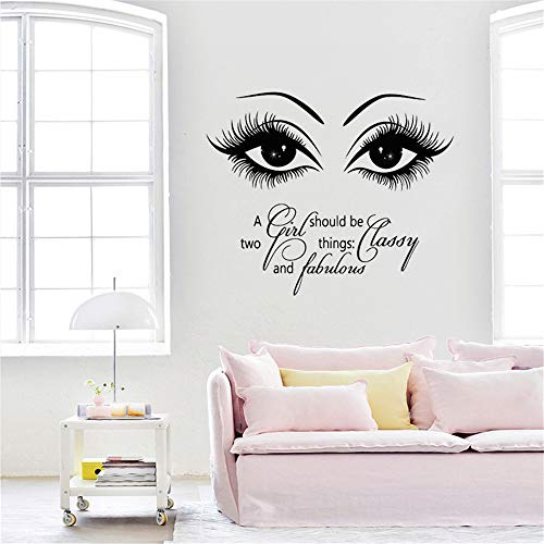 huandu Removable Vinyl Wall Stickers Act Mural Decal Art Home Decor Lash E Home Decor Living Room Decoration Bedroom Eyebrows for Living Room Girls Bedroom