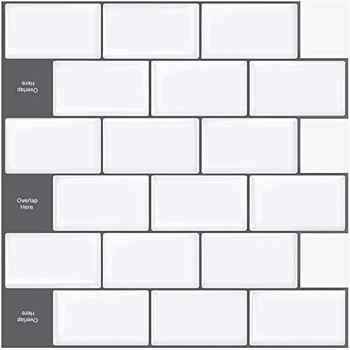 Upgraded STICKGOO 10 Sheet Peel and Stick Subway Tile Backsplash 13 x12 Self Adhesive Kitchen product image