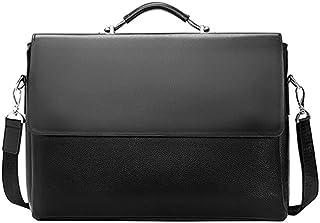 Chliuchihjklstb briefcase, Business Men's Briefcase Leather Laptop Handbag Casual Men's Bag Lawyer Shoulder Bag Men's Offi...