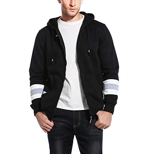 COOFANDY Men's Fashion Baseball Bomber Jacket Basic Cotton Hooded Sports Wear
