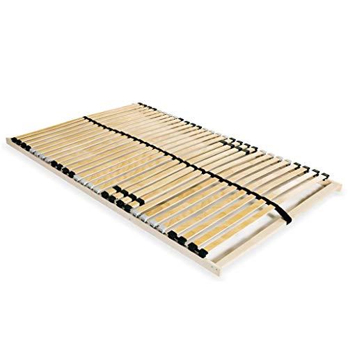 vidaXL Sommier à Lattes avec 28 Lattes 7 Zones 140x200 cm Lit Simple Adultes