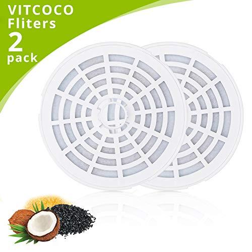 VITCOCO trinkbrunnen Filter 2 pcs Kohlefiltern für automatischer Blumentrinkbrunnen für Haustier