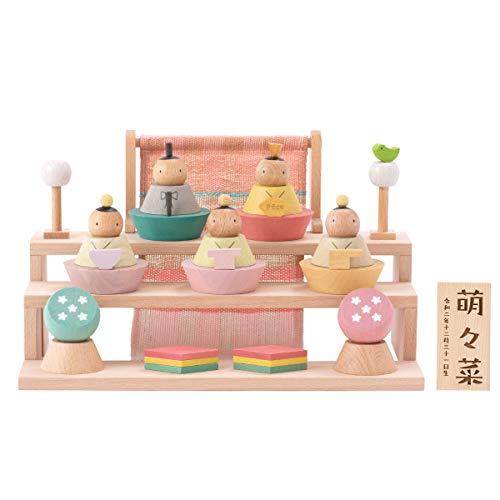(Smileまーけっと) 雛人形 お雛様 収納 ミニ 木製 Puca プーカのひなにんぎょう BASIC 基本セット オリジナル 名前札つき 日本製