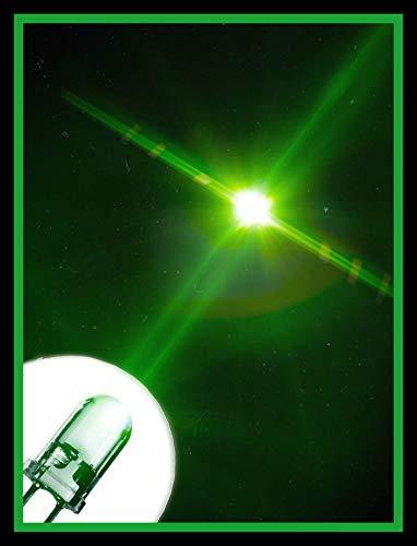 LED 5mm Farbe grün 14000 mcd 25 Stück Leuchtdiode extra hell 3V Diode 2 Pin LEDs+ 12V Widerstände 470 Ohm…