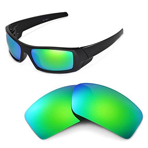 Walleva Ersatzgläser für Oakley Gascan Sonnenbrille - Mehrfache Optionen (Emerald Mirror Coated - Polarized)