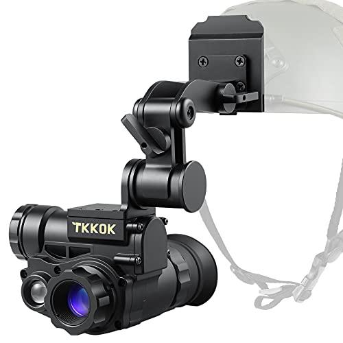TKKOK M60 Night Vision Goggles Monocular Helmet for Adults,Mount Suitable Fast Helmet IP66 1080P