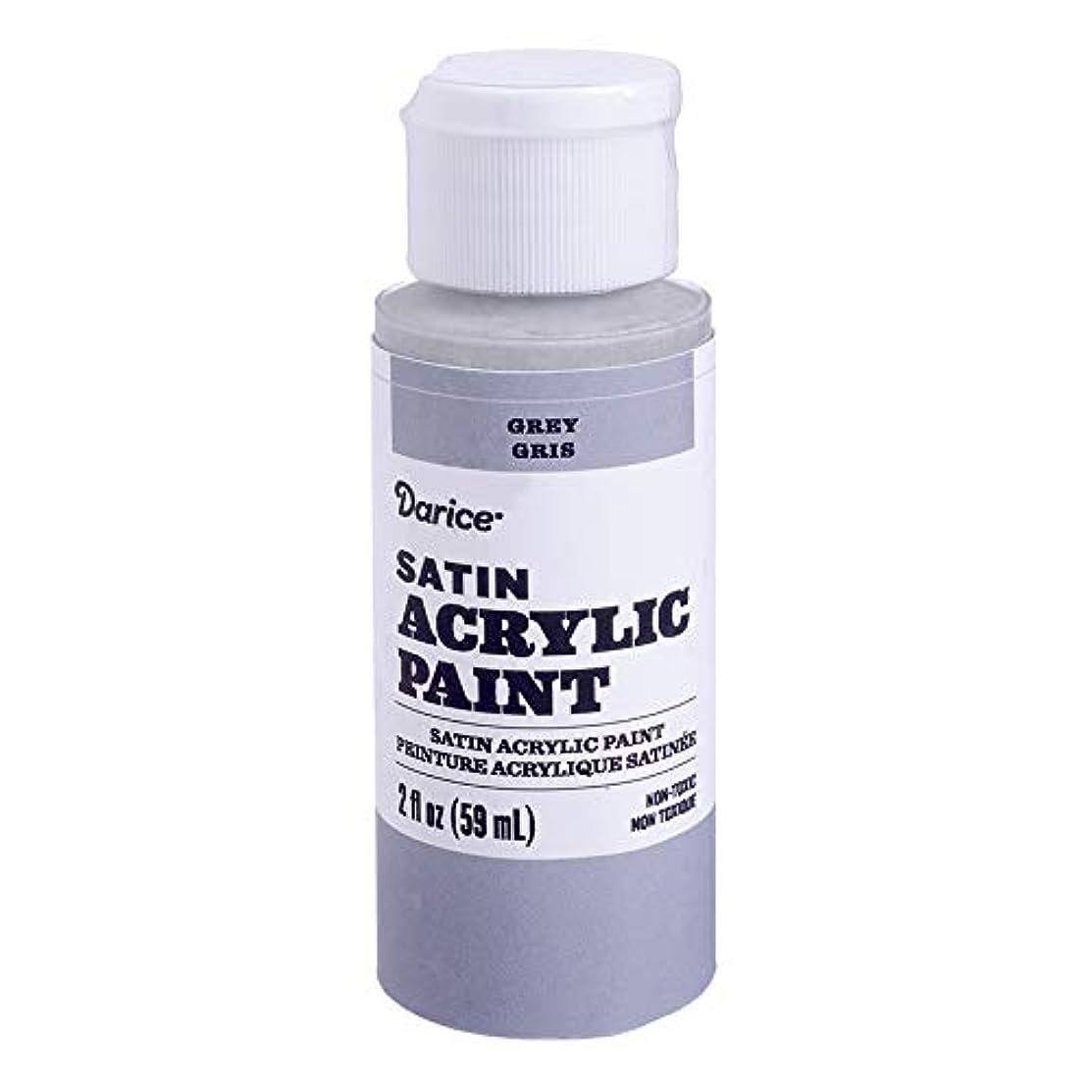 Darice 30062617 Satin Grey, 2 Ounces Acrylic Paint,