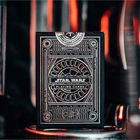 SOLOMAGIA Mazzo di Carte Star Wars Dark Side Silver Edition Playing Cards (Graphite Grey) by theory11