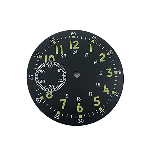 38.9mm verde luminoso reloj dial para ETA6497/6498 ST3600/ST3620 movimiento reparación accesorios, forro polar verde con licencia oficial de star wars silent one crew.,