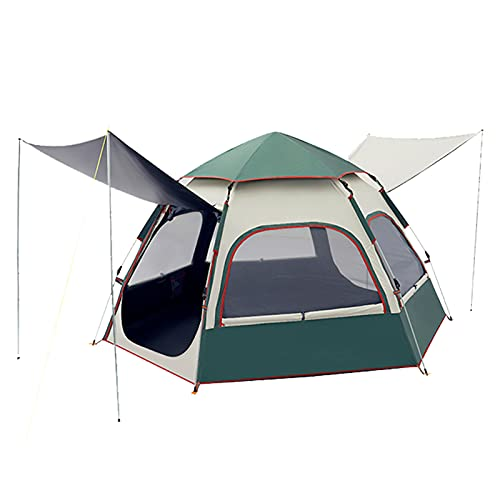 PUCHIKA Pop-up Campingzelt Outdoor, 3-4 Personen, Automatisches Wurfzelt, Familienzelt mit Tragetasche, Wasserdicht, Anti-UV, Treckkingzelt, 235 x 270x 150 cm