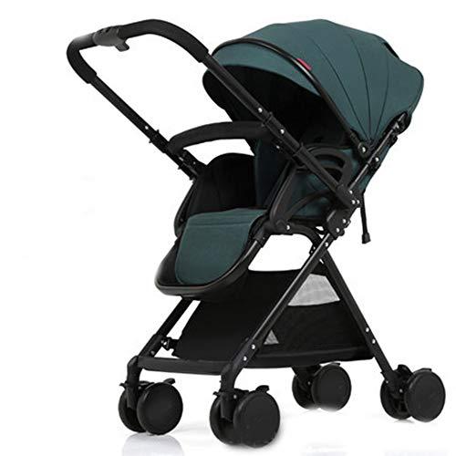 Thole Cochecito De Bebé Plegable con ArnéS De Seguridad De 5 Puntos Asiento Reclinable De MúLtiples Posiciones Cesta Grande,C