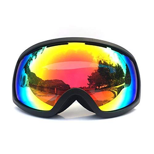HHORD Gafas De Esquí para Hombres Y Mujeres - Anti-Niebla Nieve Gafas con Doble Lente Reemplazable Protección UV, Ventilación Y Aire Ajustable Cinta De Cabeza para El Snowboard,B