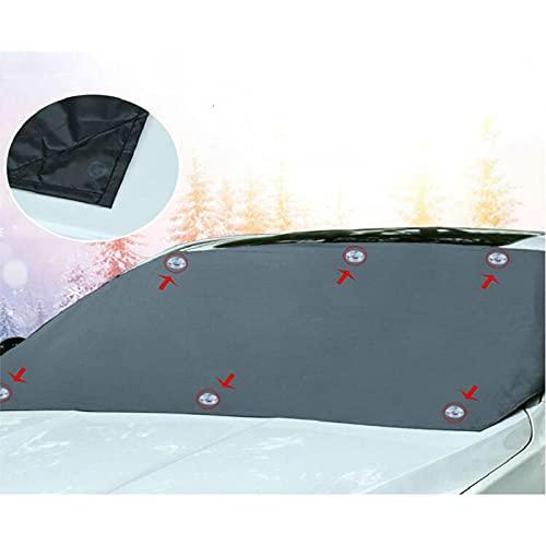 WYYUE Cubierta de Parabrisas Delantero y Trasero para Coche, Parasol Universal magnético para automóvil, Protector de Nieve, Cubierta de Visera de Invierno