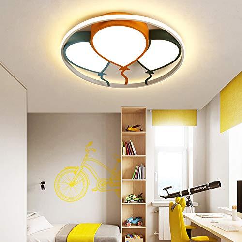 Habitación para niños Luz de bebé Lámpara de niña Lámpara LED Globo Techo Luz Niños Habitación Niños Dormitorio Lámpara de techo (Emitting Color : Brightnes Dimmable)