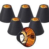 Mobestech Tipo de Burbuja Pantalla de Lámpara de Chimenea Tipo de Burbuja Accesorio de Luz Decorativa Pantalla de Lámpara Cubierta de Lámpara de Techo para El Hogar (Negro)
