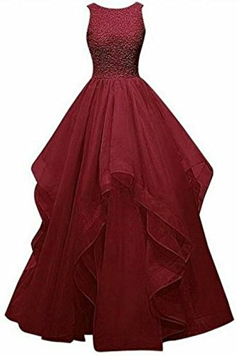 TILISM Maroon Floor Length Dress for Girls with CAN Inside