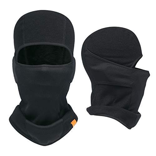 Balaclava Ski Mask- Windproof and Warmer Fleece Cold Weather Face Mask in Winter for Skiing Snowboarding Motorcycling (2 Pack Pure Black)