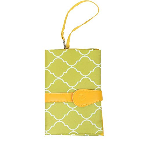 ZHANGXJ Pañal Nuevo Cambiador Portátil de Pañales para Bebé Kits para Cambio de Pañales Impermeable Cambiador de Viaje Colchones Plegables para Cambiador Cómodo Durable Bolsillo (Color : Yellow)