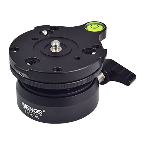 MENGS DY-60A Leveling Base Aluminum Alloy for DSLR Camera and Tripod