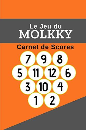 MOLKKY : Carnet de scores: Livre pour noter le score de vos parties de Molkky | Jeu de quilles | Carnet de 300 tableaux de score| Cadeau idéal pour joueur débutant ou confirmé | 15 x 23cm, 102 pages.