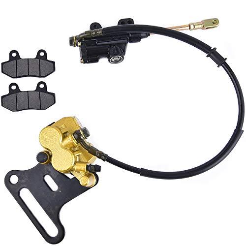 Pinza de freno hidráulica trasera, cilindro principal de freno de repuesto para ATV Quad de 70 cc, 110 cc, 125 cc, 150 cc
