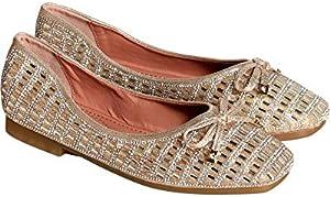 Italina Womens Casual/Dressy Slip On Super Soft Rhinestone Ballet Flat Shoes