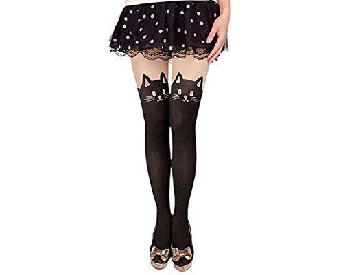 Calcetines Estilo Japones Cosplay Pantimedias - Gato XS
