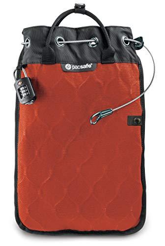 Pacsafe Travelsafe 5L - Mobiler Safe mit TSA-Zahlen Schloß, Trage-Tasche mit Anti-Diebstahl Technologie, 5 Liter Volumen, Orange/Orange