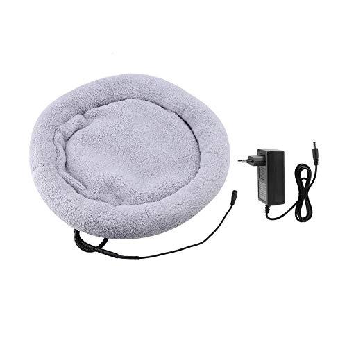 Pet verwarming pad, elektrische verwarming thermische mat bed kussen slaper voor hond kat puppy (EU plug grijs)