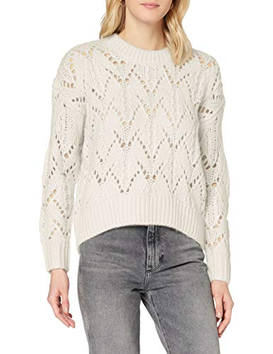 edc by ESPRIT Damen 100CC1I320 Pullover, Off White (110), XL