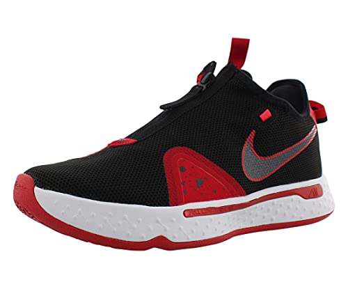 Nike PG4 Bred CD5079-003 para hombre, negro/rojo/blanco, Multi (Negro/Rojo/Blanco (Black/University Red/White)), 42.5 EU