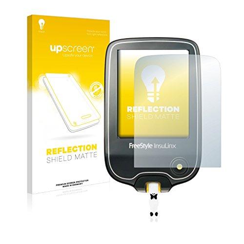 upscreen Entspiegelungs-Schutzfolie kompatibel mit Freestyle InsuLinx – Anti-Reflex Bildschirmschutz-Folie Matt