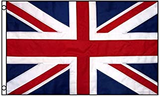 ALBATROS 3 ft x 5 ft United Kingdom Flag UK Nylon Embroidered Sewn Stripes British for Home and Parades, Official Party, All Weather Indoors Outdoors
