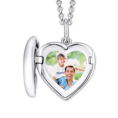 Collana in argento 925 a cuore in cristallo con ciondolo a forma di cuore, collana di foto personalizzata per le donne