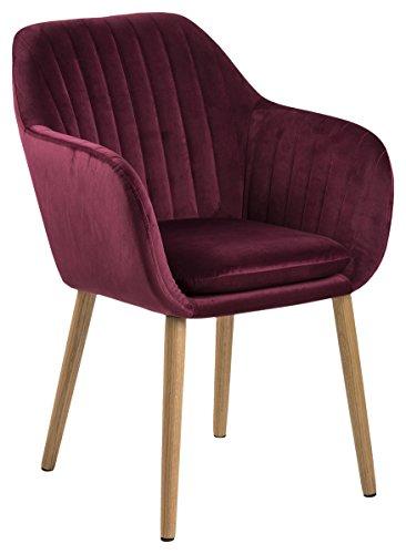 AC Design Furniture Wendy Sedia per Sala da Pranzo, Tessuto, bordò, 61 x 57 x 83 cm