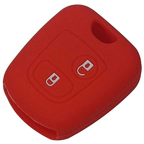 ZIMAwd Cubierta de la Llave del Control Remoto del Coche de Silicona de 2 Botones, Apta para Peugeot 107206307207408