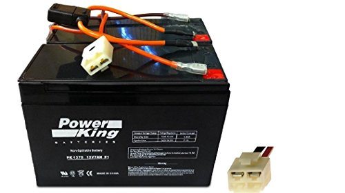 This Battery is 100% Compatible with the Razor Scooter Battery and New Wiring Harness 12 Volt 7Ah - Set of 2 Includes (6-DW-7) Beiter DC Power