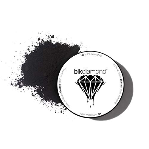 Blkdiamond - Premium Activated Charcoal Teeth Whitening Powder - Natural Coconut Charcoal - Proven Safe for Enamel to get a Whiter and Brighter Smile - Premium Organic Carbon Toothpaste Detoxifier