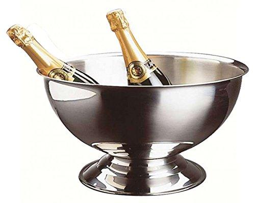 TheKitchenette 4615260 Grande Vasque à Champagne en Acier Inoxydable-5 à 6 Bouteilles, Gris, 40 x...