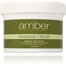 Amber Massage & Body Green Tea Mint Massage Cream 8 oz