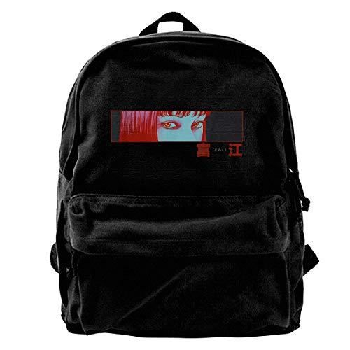 Yuanmeiju Canvas Backpack Junji Ito Unisex Multi Purpose Backpack