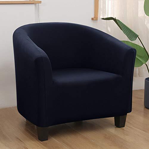 HGFHGD Spandex elástico de la bañera de la silla cubierta de color sólido de ocio elástico bañera sillón silla cubierta protectora lavable sofá cubierta 1pc B4