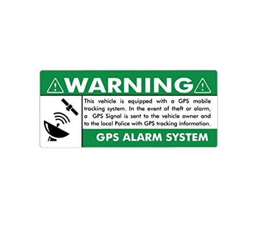 Wandtattoos Wandbilderinteresse Warnung Gps-Alarmanlage Fenster Reflexion Fahrzeugdekoration Zubehör Aufkleber 15Cm X 6.4Cm