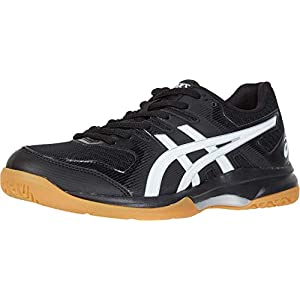 ASICS Women's Gel-Rocket 9 Volleyball Shoes, 8.5, Black/White