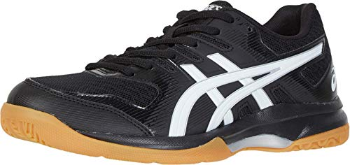 ASICS Women's Gel-Rocket 9 Volleyball Shoes, 8.5M, Black/White